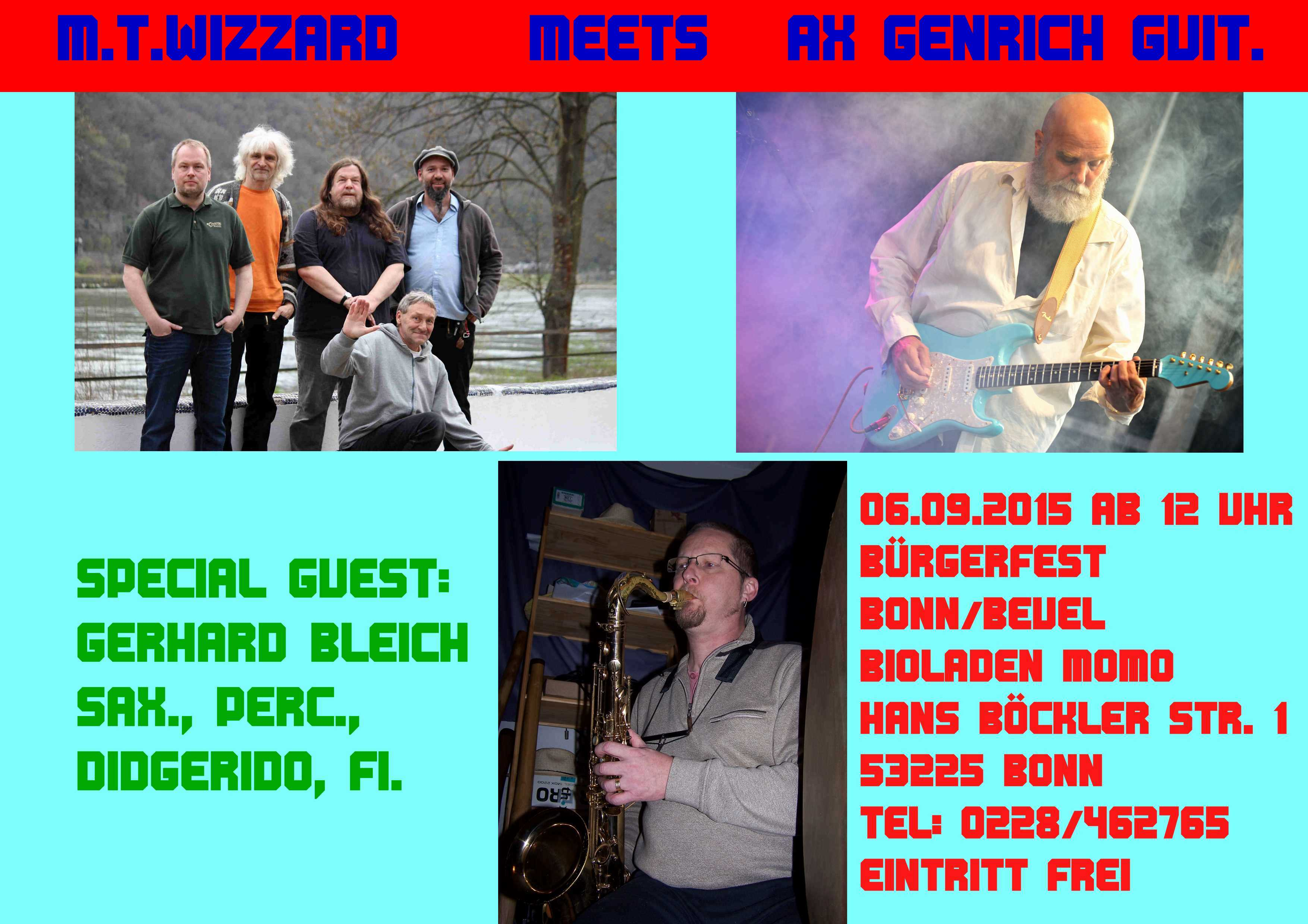M.T.Wizzard meets Ax Genrich - special guest Gerhard Bleich @ the Momos